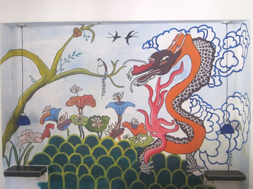 The Dragon - Mural - Palomino, Colombia Dreamer Hostel