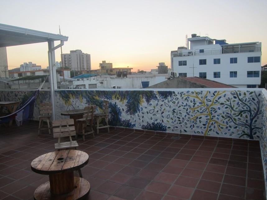 Leaf Explosion - Santa Marta, Colombia Terrace Roof Hostel Jackie