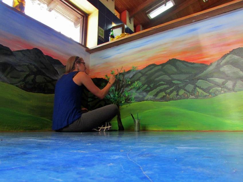 Salano and Plant Mural La Serrana– Salento, Colombia- La Serrana Mural